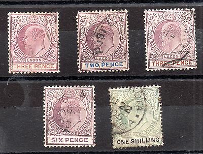 Lagos KEVII collection to 1s (5 values) WS1741