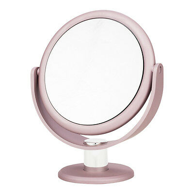 Blush Pink Metallic Soft Touch Vanity Tabletop beauty Mirror Danielle Creations