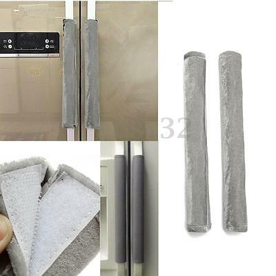 """Fabric Refrigerator Oven Appliance Door Handle Covers Set of Two Grey 14""""x5.5"""""""