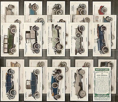 Lambert & Butler-Full Set- Motor Cars (2Nd Series) - Exc