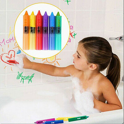 NEW 6pcs Baby Toddler Washable Bath Crayons Bathtime Fun Play Educational Toy