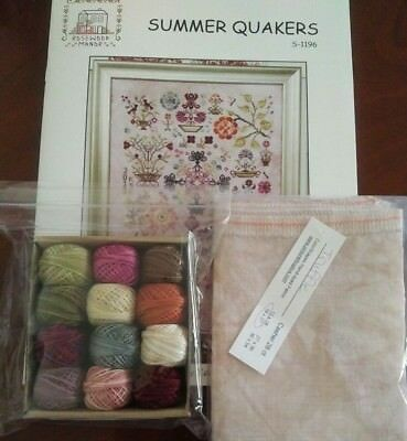 Rosewood Manor Summer Quakers Cross Stitch Chart, Valdani Thread & Linen Preord