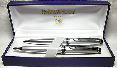 Waterman Expert Brushed Chrome Set New In Box Product