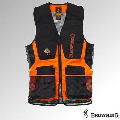 Browning Shooting Vest - Claybuster Black/Orange - 30591790xx