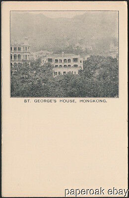 St. George's House In Hong Kong Original Postcard ca.1908