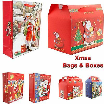 New Christmas Festive Gift 3 D Xmas Party Wrapping Novelty Paper Bags And Boxes