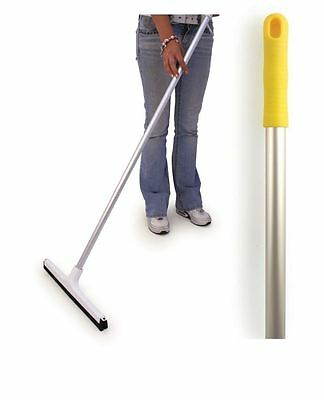 """Professional Food Hygiene 18"""" Colour Coded Floor Squeegee Blade & Yellow Handle"""