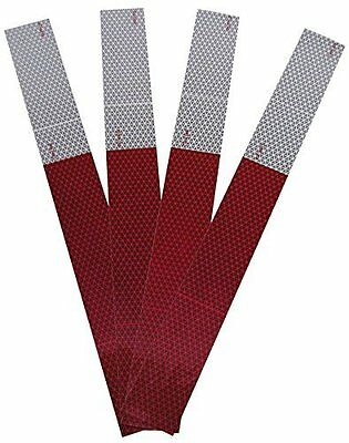 "Red/ White Conspicuity Tape Reflective 4PC 2"" x 18"" by Blazer"