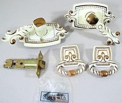 Vintage French Provincial Hollywood: 2 Drawer/Cabinet Pulls + Door Knob Handle