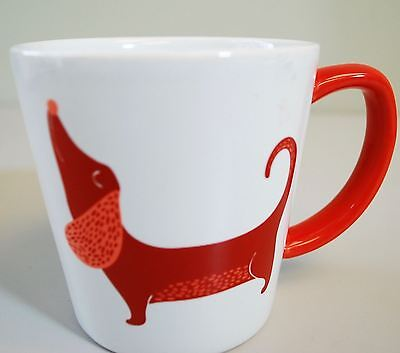 "Bow Wow Dachshund Weiner Dog Coffee Mug - 3.5"" Tall"