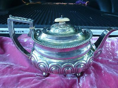 Fine Mary Sumner English Georgian Sterling Silver Teapot