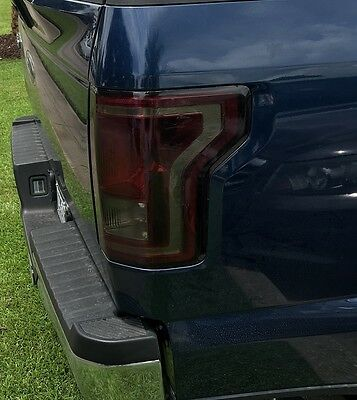 2015 2016 2017 Ford F150 Smoke Tail Light Precut Tint Cover Smoked Overlays