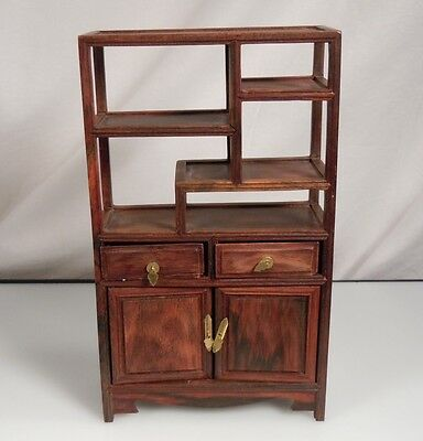 Vintage Chinese Rosewood Miniature Display Cabinet