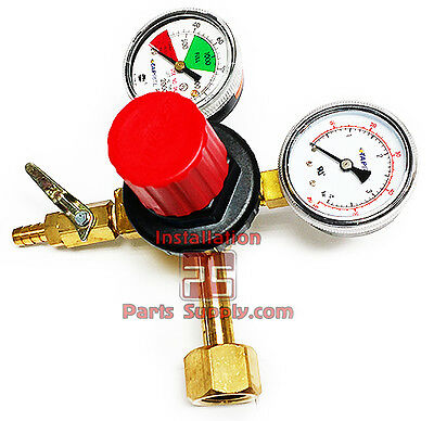 Taprite T742HP Primary Co2 Regulator 1 Product Beer 60# 2000# Pressure Gauge Keg