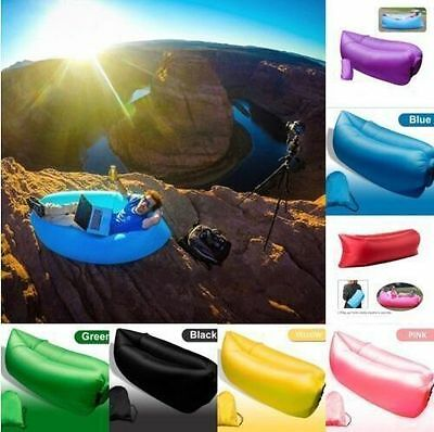 Portable Camping Lounger Air Sofa Inflatable Sleeping Bag Beach Hangout Lazy Bed