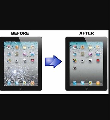 Apple iPad 4 CRACKED GLASS DIGITIZER TOUCH SCREEN REPAIR REPLACEMENT SERVICE