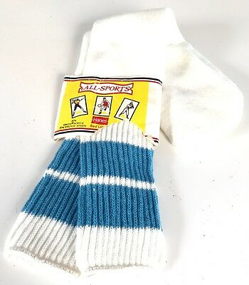 New Vintage Hanes Red Label All-Sports Orlon Tube Socks Sz 9-15 Nwt Nos