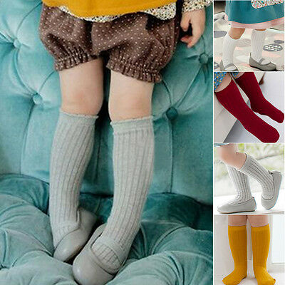 Sweet Baby Infant Toddler Children Kids Girls Cotton Knee High Socks Leggings