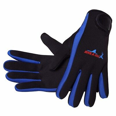 High Elasticity 1.5mm Neoprene Winter Swimming Diving Gloves With Magic Stick