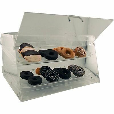 Bakery Acrylic Donut and Pastry - Display Case - 2 Shelves