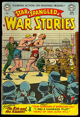 Star Spangled War Stories #12 Usa Vs Nazi Boxing Cover Wwii Dc Comics