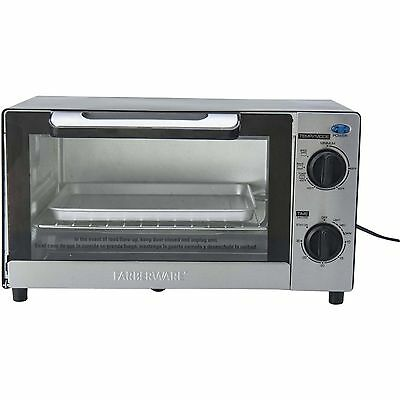 Farberware 4-Slice Kitchen Countertop Toaster Oven With Baking Pan
