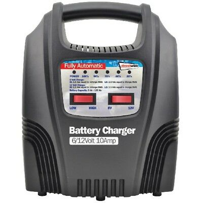 Streetwize SWBCLED10 10 Amp LED Fully Automatic Plastic Cased Battery Charger
