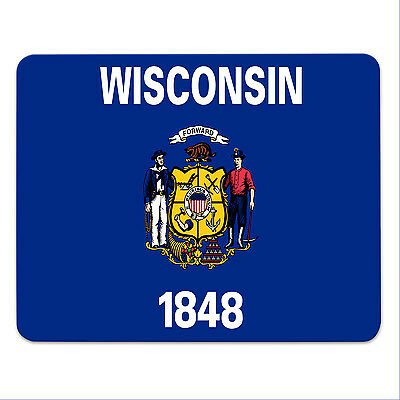 Mouse Pad - WISCONSIN - USA - State of Wisconsin - mousemat - mousepad