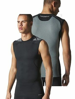 Adidas Techfit Climacool Compression Base Layer Mens Training Vest Tee T-Shirt