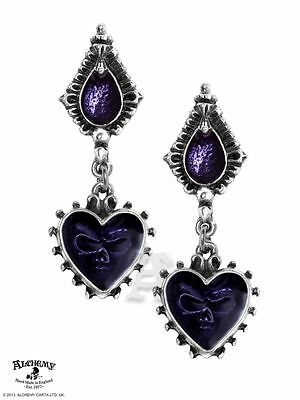Alchemy Gothic Mirror Of The Soul Pewter Pair of Earrings BRAND NEW