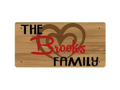 WP_TFAM_0158 The Brooks Family - Wooden look - Metal Wall Plate