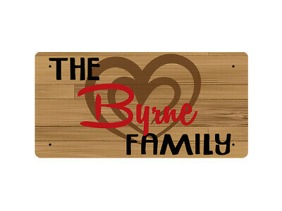 WP_TFAM_0183 The Byrne Family - Wooden look - Metal Wall Plate