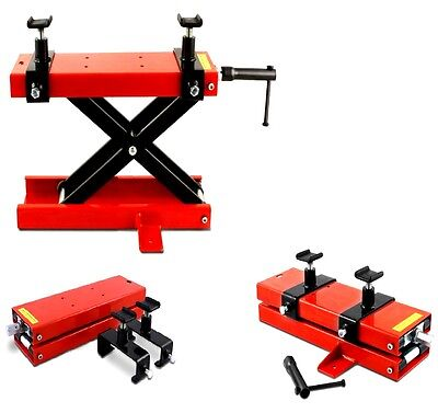 New 1100Lbs Motorcycle Motorbike Stand Scissor Lift Hydraulic Paddock Stand Lift