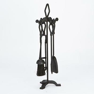 Cast Iron 5pc Fireside Fireplace Companion Set Traditional Black FIRE78