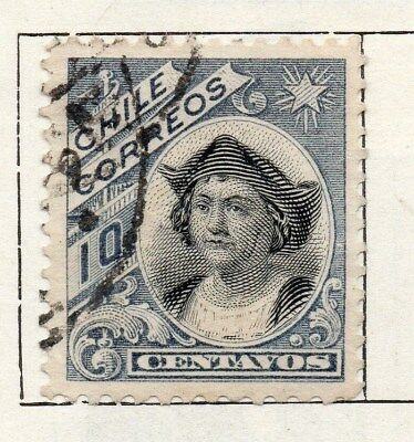 Chile 1905 Early Issue Fine Used 10c. 098049