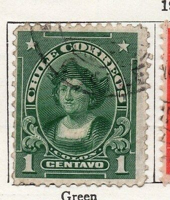 Chile 1911 Early Issue Fine Used 1c. 098060