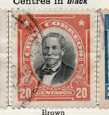 Chile 1911 Early Issue Fine Used 20c. 098066
