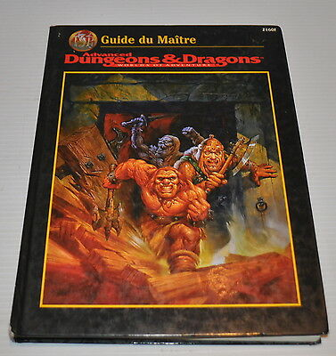 Advanced DUNGEONS & DRAGONS GUIDE du MAITRE FRENCH Master Guide BOOK 2160F