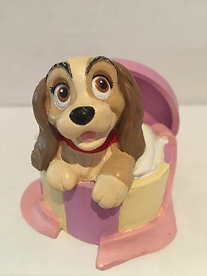 ~ DISNEY ~ LADY and the TRAMP ~ Classic Collection ~ LADY in Hatbox figure ~