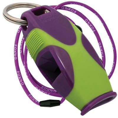 Tide Rider Fox 40 Sharx Whistle With Black Breakaway Lanyard - Purple and Green