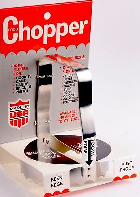 Harold Import S/S Kwik Kut Food Chopper/Meat Tenderizer/Cookie Biscuit Cutter