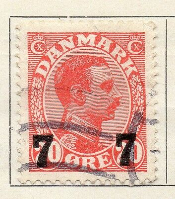 Denmark 1926-27 Early Issue Fine Used 7 Surcharged 098243