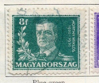 Hungary 1930 Early Issue Fine Used 8f. 098290