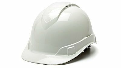 Pyramex HP44110V Ridgeline Cap Style Hard Hat with 4-Point Vented Ratchet, White
