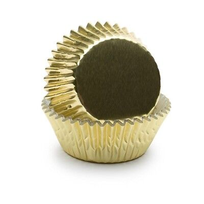 Fox Run Standard Baking Fluted Paper Cups Cupcake Muffin Liners Gold Foil 32 ct.