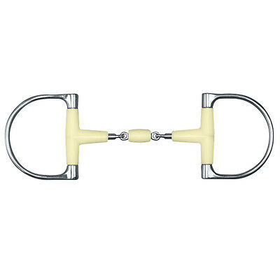 Happy Mouth King Dee Double Jointed Snaffle Bit w/Roller - Sizes: 5 & 5.5""