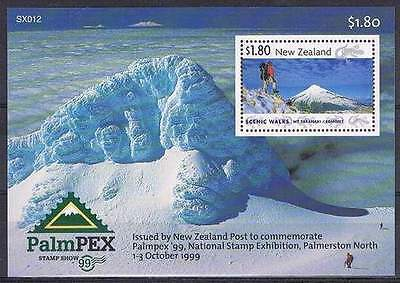 New Zealand 1999 Palmpex Stamp Exhibition. Scenic Walks MS MNH
