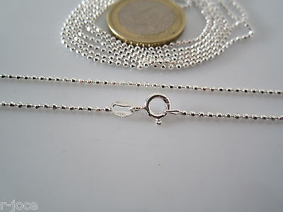 catenina lunga 90 cm in argento 925 sterling pallini sfac. diamantati di 1,5 mm