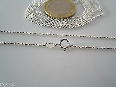 catenina lunga 100 cm in argento 925 sterling pallini sfac. diamantati di 1,5 mm