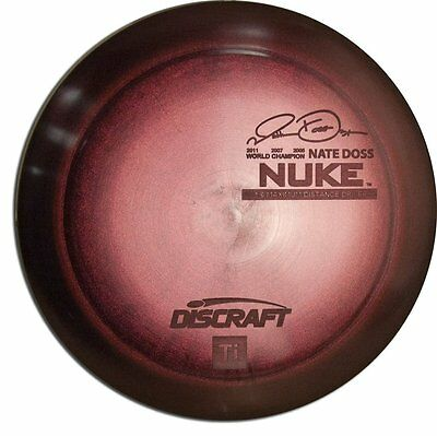 Discraft Disc Golf Titanium Nuke Nate Doss Speed Distance Driver Colors May Vary